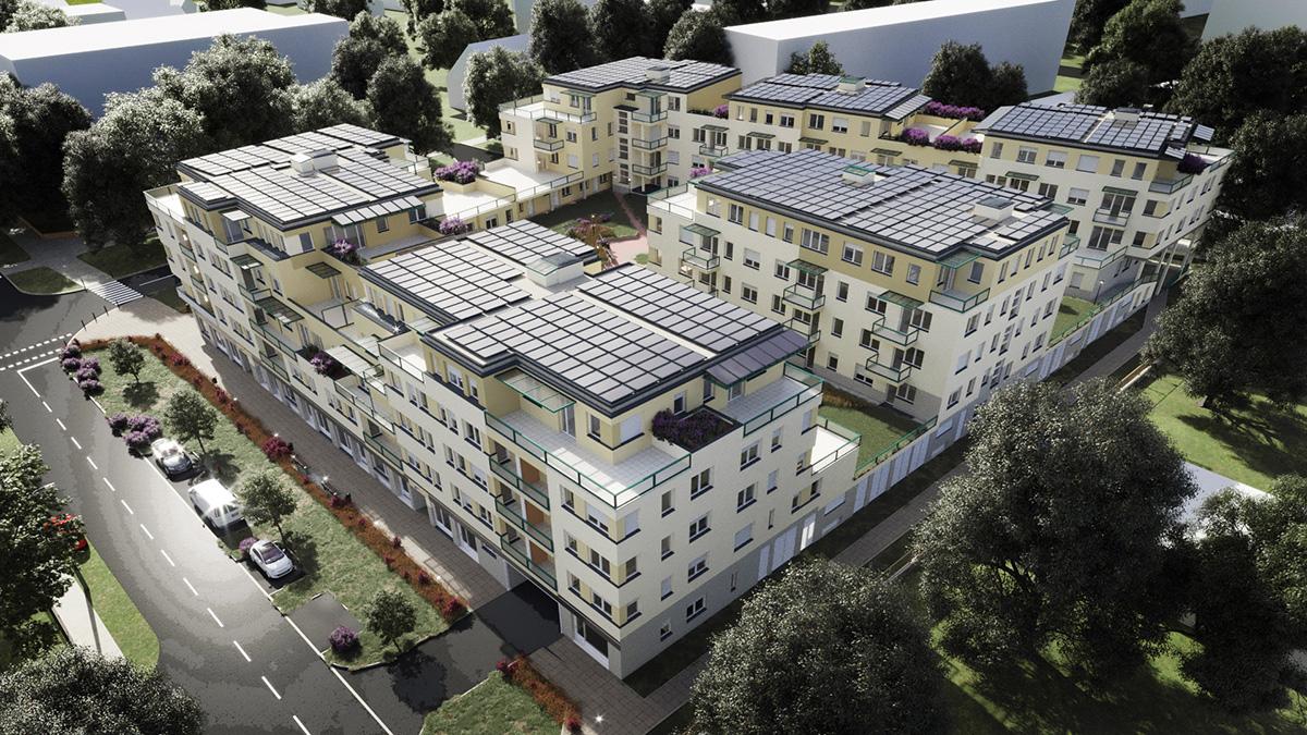 LIVE lakópark E-F épületek